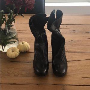 Fendi  Black Leather Booties